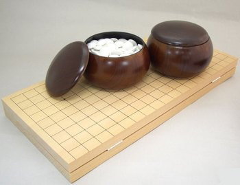 打ち心地の良い厚型折碁盤セットシリーズ 新桂7号折碁盤セット雅