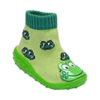 Baby Shoe Sock - Green Frog