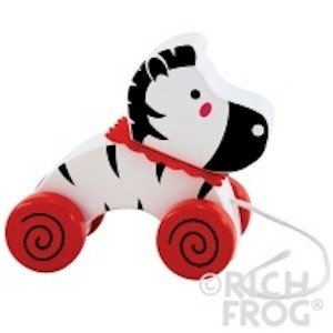 Rich Frog Wooden Pull Toy - Zebra