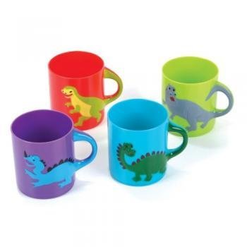 Dinosaurs Mugs Assorted colors and designs (1 dz) - 1