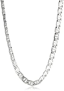 Men's Stainless Steel Mariner Link Necklace, 22