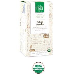 Rishi Tea Organic Silver Needle Loose Tea, 1.23-Ounce (Pack of 2)