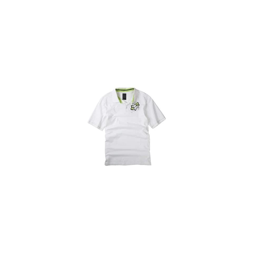 Fox Racing Torn Polo   Large/White Automotive