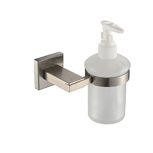 KES Bathroom Lavatory Soap Lotion Dispenser Pump Wall Mount with SUS304 Stainless Steel Post, Brushed Finish, A2490-2 (Wall Mount Pump Soap Dispenser compare prices)