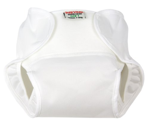 Diaper Cover - Soft - Hook and Loop (Super Large, White)
