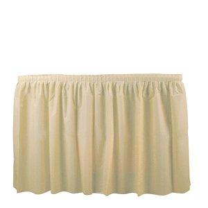 Duni 286414 Buttermilk Tableskirt, 29