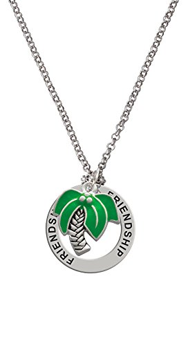 Large Palm Tree - Friendship Affirmation Necklace