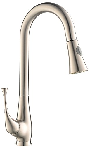 Great Features Of Modern Brushed Nickel Stainless Steel Single Lever Pull Out Pull Dowm Kitchen Sink...
