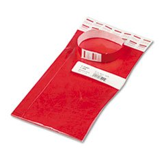 * Crowd Management Wristbands, Sequentially Numbered, Red, 100/Pack