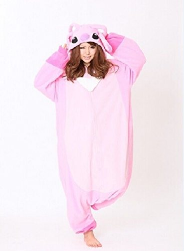 Pink Koala Pajamas Cosplay Winter Fleece Adult Women (Size Xl) front-1054073