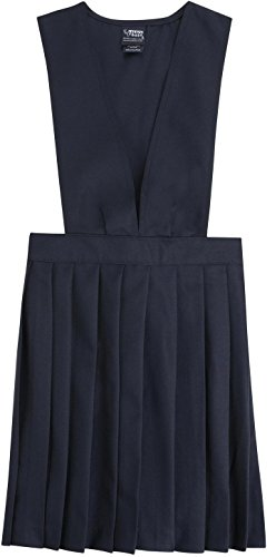 French Toast School Uniforms V-Neck Pleated Jumper Girls Navy 3T front-1035560