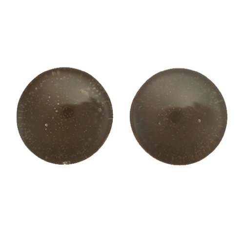 Chocolate Double Flared Handmade Glass Candy Plugs - 3/4