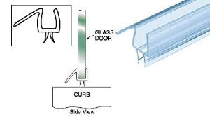 "Why Should You Buy CRL Clear Co-Extruded Bottom Wipe with Drip Rail for 3/8"" Glass - 36"" L..."