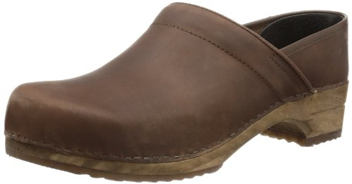 Sanita RETRO - CLASSIC OIL CLOSED 1201005, Zoccoli unisex adulto, Marrone (braun (antiquebrown78)), 42