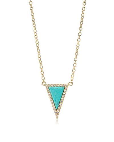 Chloe & Theodora Fallon Pave Triangle Necklace