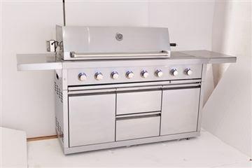 Barbecue a gas, Cucina da esterno in acciaio inox CKW ...