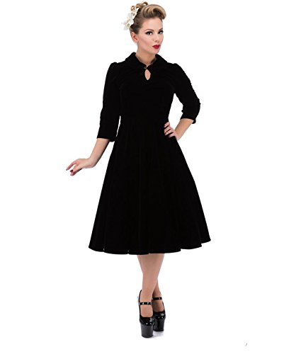 3067-hr-coeurs-et-roses-london-50s-glamorous-velours-robe-noir-uk-12-m