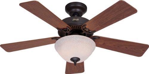 Hunter Kensington New Bronze Ceiling Fan with Light Kit