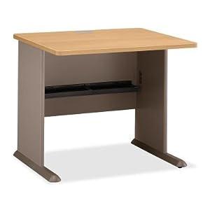 "Modular 36"" W Desk Light Oak Top/Sage Base"