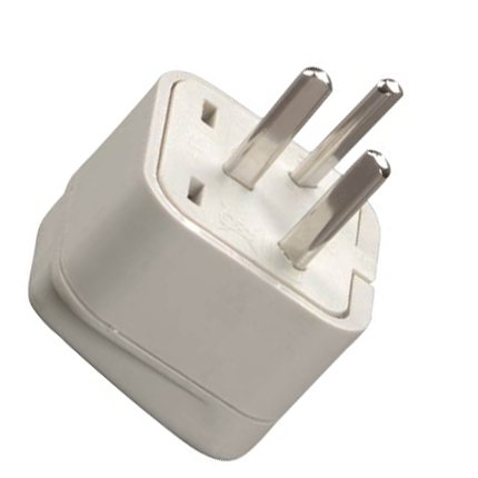 Grounded Adapter Plug America To Israel Gul Ce Certified