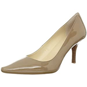 Calvin Klein Women's Dolly Two Tone Patent Pump,Taupe,9 M US