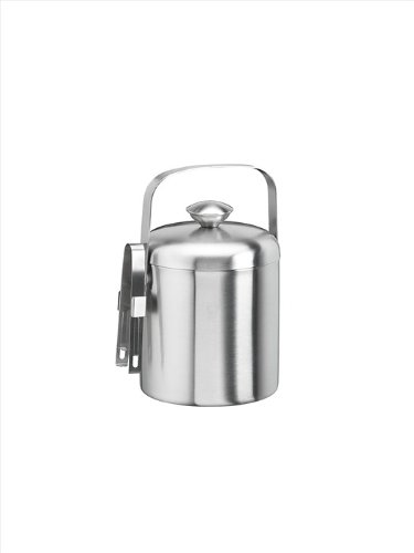 Kraftware Brushed 1.3 Quart Ice Bucket With Tong
