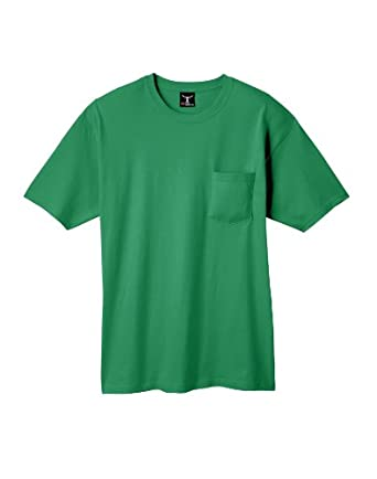 HANES Adult Short-Sleeve Beefy-T with Pocket>S Kelly 5190