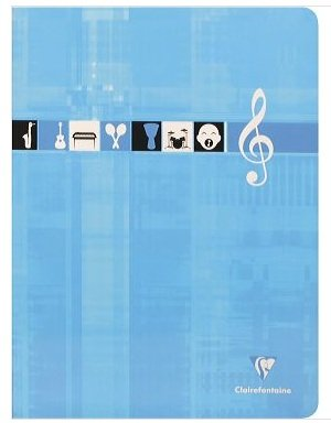 clairefontaine cahier piq re vernis musique et chant 24x32 48 pages 90g s y s port es pas cher. Black Bedroom Furniture Sets. Home Design Ideas