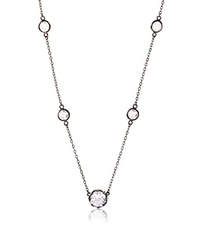 CZ by Kenneth Jay Lane Crown CZ Drop Stations Necklace
