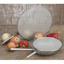 "13"" stainless FRYING Pan wok SPLATTER screen KITCHEN NU"