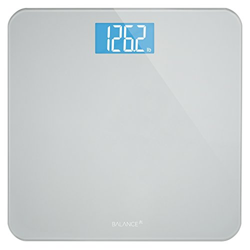 Balance High Accuracy Bathroom Scale with Easy-to-Read Backlit LCD and