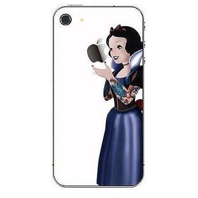 Mobifan 遂に登場!! 【iPhone 5 対応 iPhoneステッカー 白雪姫(Snow White) White タトゥー】