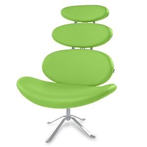 Amazon Com Pebble Modern Swivel Occasional Chair Lime