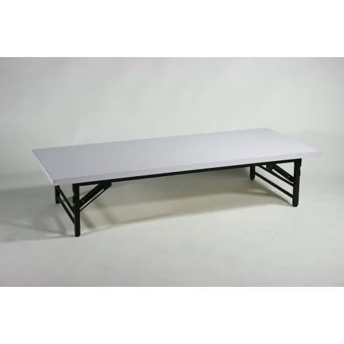 ■折畳み 会議テーブル 会議用テーブル 座卓(ロータイプ) ミーティングテーブル■150x60x33cm■7650MB-WH