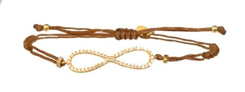 SKU CZ 14k Gold Plated Vermeil INFINITY Cord Bracelet