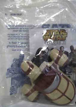2005 Star Wars Episode III Burger King Land Speeder Toy - 1