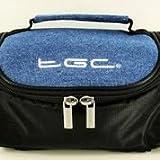 TGC ® Sat Nav GPS Case/Bag for TomTom GO 6000 with shoulder strap and Carry Handle (Black & Denim)