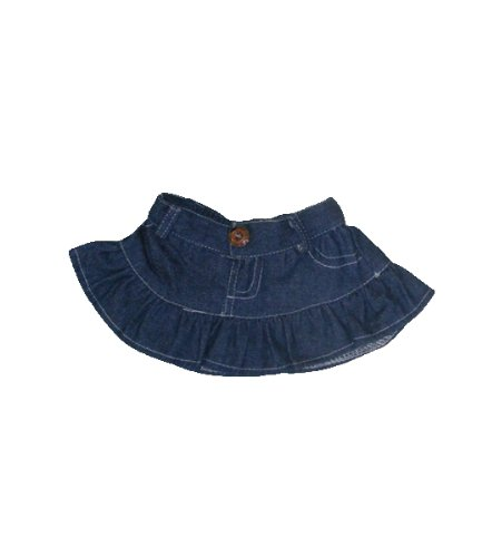 "Denim Skirt Outfit Fits Most 8"" - 10"" Inch Webkinz, Shining Star and Make Your Own Stuffed Animals and Dolls - 1"