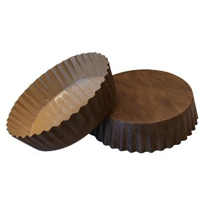 "Solut 22078 PET Fluted Wall Round Baking Cup, 8-Ounce Capacity, 4-1/2"" Diameter x 1-1/8"" Depth, Solid Brown (Case of 720)"