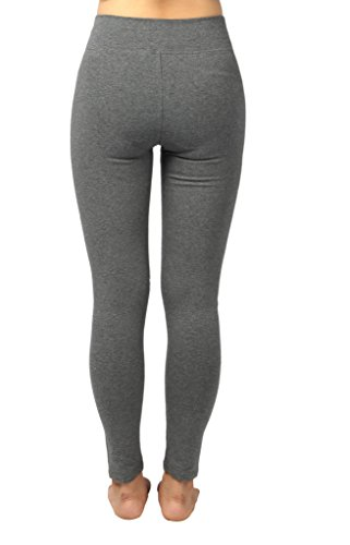 4How Women's Tights Pants Fitness Workout Leggings Grey Large