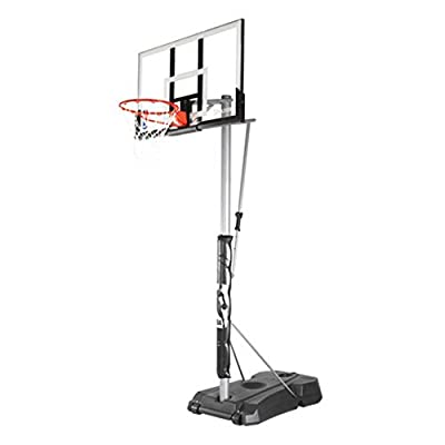 "Spalding NBA Hercules Vertical Pole Portable Basketball System - 52"" Acrylic Backboard"
