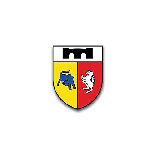Aufkleber / Sticker - PzPiKp 210 Panzerpionierkompanie Panzer Leo Leopard Bundeswehr Wappen Abzeichen Emblem passend für VW Golf Polo GTI BMW 3er Mercedes Audi Opel Ford (5x7cm)#A1569