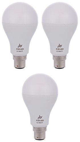 RB 12W B22 LED Bulb (Pack of 3, Cool Day Light)