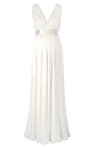 Femicuty Maternity Chiffon Bridesmaid Dresses Customized (Ivory)