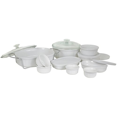 CorningWare French White 17-Piece Bake and Serve Set