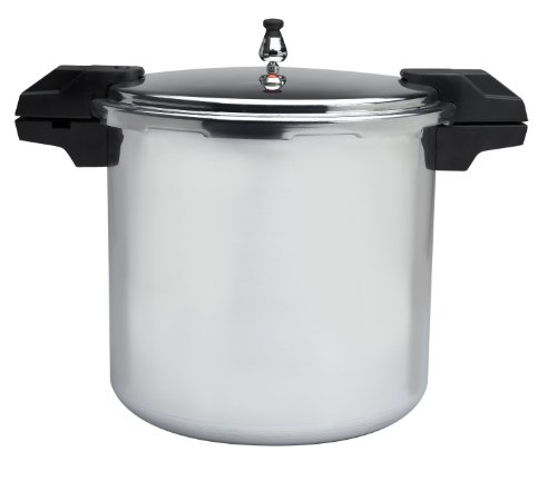 Mirro 92122A Polished Aluminum Dishwasher Safe Pfoa Free Pressure Cooker Cookware, 22-Quart, Silver