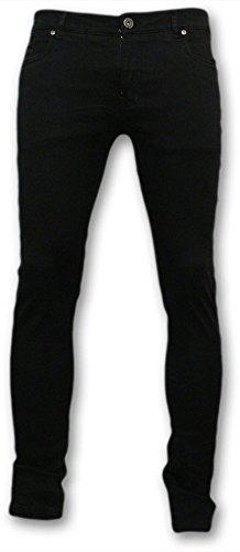 Deeluxe da uomo Jeans Nero W32