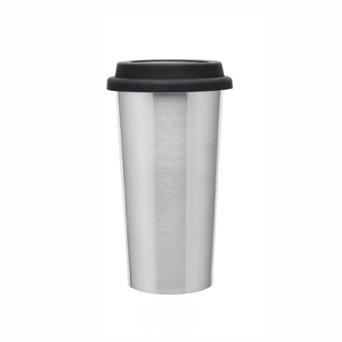 Stainless Steel Drink Tumbler - Double Wall - Vacuum Insulated With Silicone Lid - 16Oz. Brushed Stainless