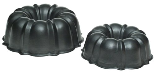 Nordic Ware 2 Piece Non-stick Formed Bundt Pan Set, 6 Cup & 12 Cup Capacity, Colors may vary