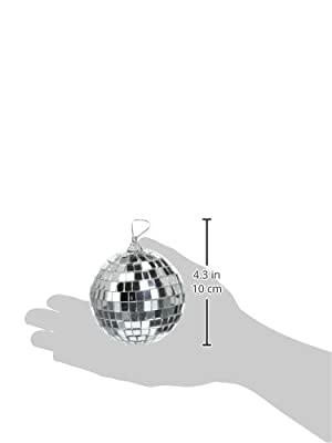 Darice 6-Piece Mirror Ball Ornaments, 3-1/8-Inch, Silver